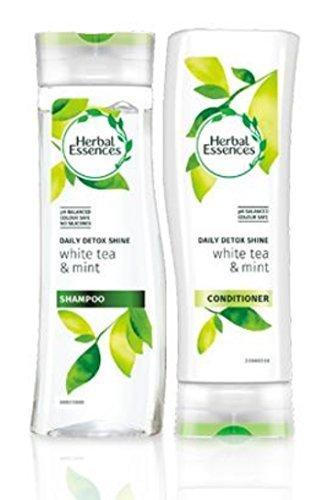 Herbal Essences Journalier Détox éclat shampooing et après-shampooing avec blanc Thé et neuf Paquet avec Exclusif beauté embouts