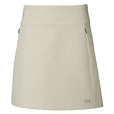 Cutter & Buck Women's Moisture Wicking 50+ UPF Pacific Pull-on Skort with Pockets, Castle, Small