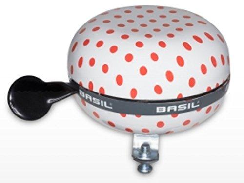 Basil Fahrradklingel Big Bell Polkadot, White/Red, 80 mm
