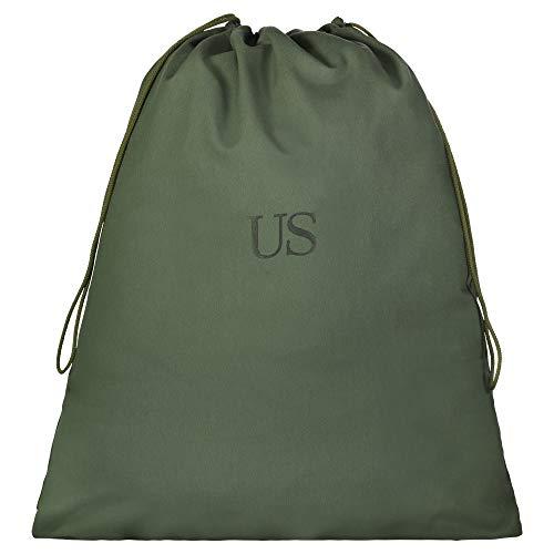 USGI US Military Barracks Cotton Canvas Laundry Bag, Olive Green 3Pack