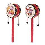 WANGYUMI Spin Rattle Drum Monkey Drum Chinese Kid Toy Gift