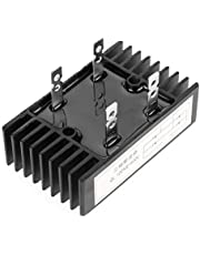 Puente rectificador, 1pc 100A Amp 1600V Voltaje 2-Fase Puente diodo Rectificador de alta potencia Negro