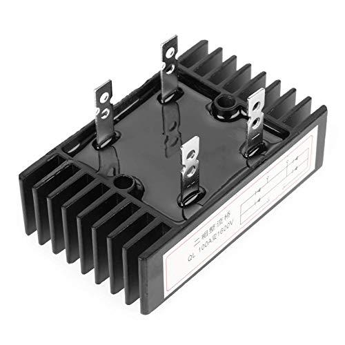 Rectificador de Puente, Diodo Bifásico Rectificador de Puente 100A Amp 1600V Voltaje Diodos de Silicio de Onda Completa Diodo Rectificador de Puente Alta Potencia Con Disipador de Calor