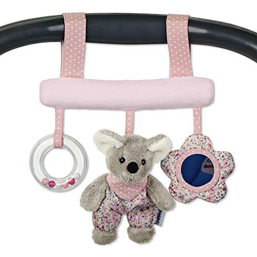 Sterntaler Spielzeug zum Aufhängen mit Klettverschluss, Maus Mabel, Inklusive Rassel, Alter: Für Babys ab der Geburt, Rosa/Mehrfarbig