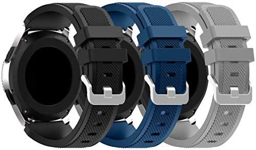Abasic kompatibel mit Amazfit Pace/Stratos/GTR 47mm Armband, Silikon Uhrenarmband Sportarmband (22mm, Pattern 0)