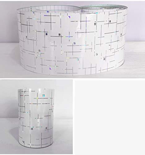 Tapete bordüre selbstklebende wasserdichte Weiß 30X1000CM für Wohnzimmer Badezimmer Schlafzimmer Küche Wanddeko