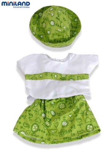 Miniland Miniland31532 Robe Verte et Capuchon pour poupées 38–40 cm
