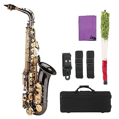 Sassofono Sassofono Sassofono Contralto in Mi Bemolle, Corpo in Ottone Nichelato con Chiavi Incise, Strumento A Fiato con Custodia