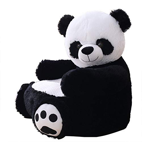 Kaliya Plush Kids Elephant Canapé Siège Chaise Enfant Fauteuil Animal Confortable Canapé (Panda)