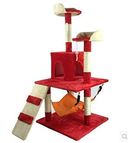 Axiba Kletterbaum für Katzen,Katze Frame Katze Jumping Schwert Kletterseil Cat Litter Cat Greifen Spalte Katze Baum 60 cm * 58 cm * 130 cm