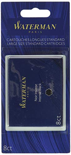 Waterman Waterman Fountain Pen Cartridges, Black, 8-Pack (52021W)