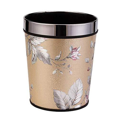 SOME Cubos de basura Basura y reciclaje Bote de basura de plástico satinado for el hogar Cocina creativa Sala de estar Set de inodoro Barril de papel usado (Size : A)