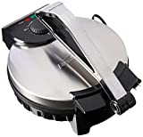 Brentwood TS-128 Electric Tortilla Maker Non-Stick, 10-inch, Brushed Stainless Steel/Black