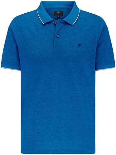 FYNCH-HATTON Herren Poloshirt Kurzarm - aus Premium Baumwolle - Polo Short Sleeve mit Polokragen in Melange Two Tone und geknöpfte Kragen