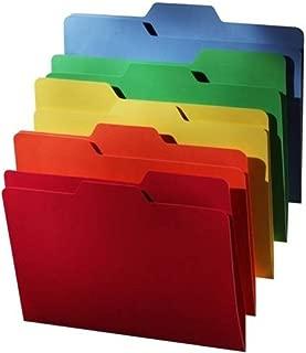 Find It All Tab File Folders, Letter Size, 5 Color Assortment, 80 Folders per Pack (FT07070)