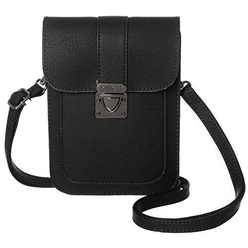 MINICAT Crossbody Cell Phone Purse with Card Slots Small Travel Crossbody Purse Bags for Women(Black)