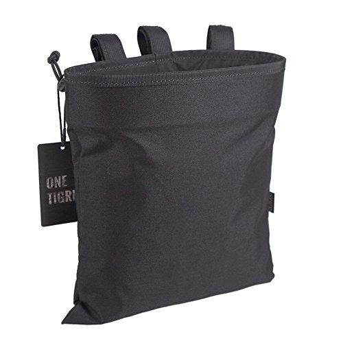 OneTigris Outdoor Molle EDC Taschen Taktische Mehrzwecktasche Dump Pouch Nylon (Schwarz)