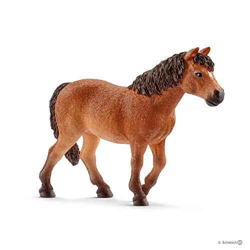 Schleich-13873 Yegua Poni Dartmoor, Color marrón (13873)