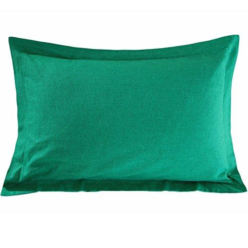 Nimsay Home Par de fundas de almohada de franela térmica Oxford de calidad de hotel, 100% algodón cepillado, 2 fundas de almohada – Virdis (50 x 75 + 5 cm)