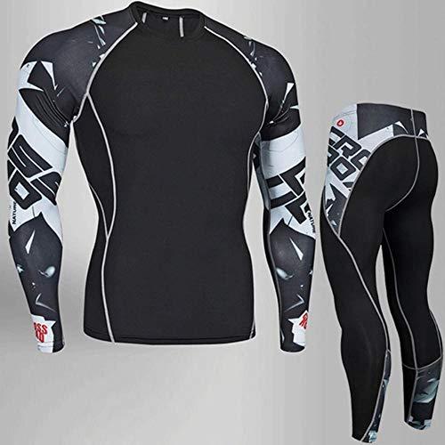 SHYSBV Thermowäsche für Herren Herren Thermounterwäsche Base Layer Trainingsanzug Warme Wintersportanzüge Compression Sportswear 4XL XXXXL
