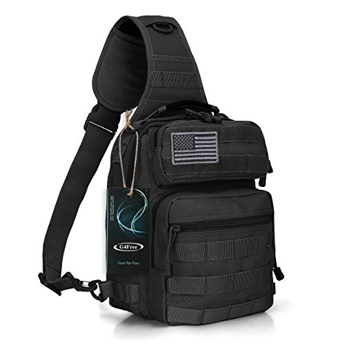 G4Free Tactical Sling Bag Backpack Military Rover Shoulder Sling Pack Molle EDC Small Crossbody Chest Pack