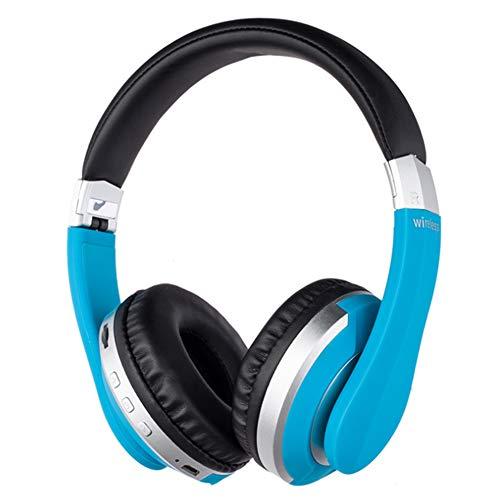 Wsaman Bajo Retraso Auricular Bluetooth, Auriculares Bluetooth Deporte Cancelación del Ruido Estéreo para Celular/Running Dispositivi Bluetooth Earphones,Azul