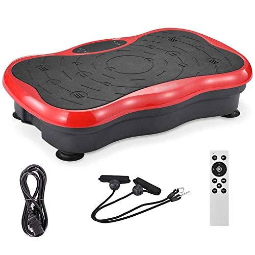 WEIZI Vibration Fitness Platform Professional máquina de Ejercicios Elite Placa de vibración para Todo el Cuerpo Equipo de Ejercicio para Adelgazar y moldear para el hogar con Bandas de resistenci