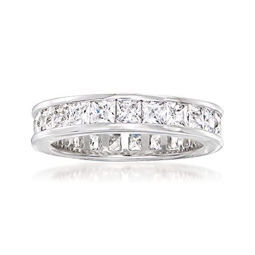 Ross-Simons 2.75 ct. t.w. Princess-Cut CZ Eternity Band in Sterling Silver. Size 6