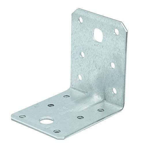 D2D | VPE: 50 Stück - Winkelverbinder mit Steg/Sicke - Größe: 70 x 70 x 55 mm - Feuerverzinkt mit CE Kennzeichnung - Balkenwinkel - Holzwinkel - Made in Germany