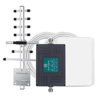 Tri-Band Cell Phone Signal Booster Repeater for Verizon AT&T T-Mobile 3G 4G LTE - Enhances Your Cellular Voice & Data in Home/Office Up to 4,500Sq Ft  Supports Band 5/12/13/17