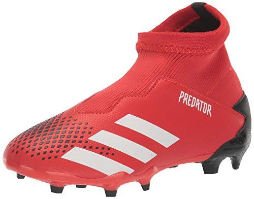 adidas Unisex-Child Firm Ground Predator 20.3 Soccer Shoe, Active Red/White/Core Black, 4.5