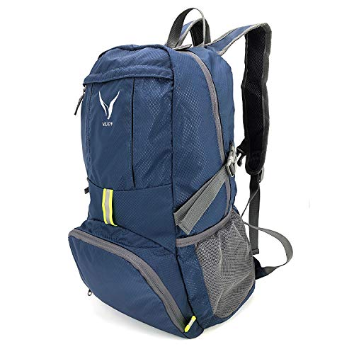 VEJOY Ultra Lightweight Foldable Travel Hiking Backpack, Water...