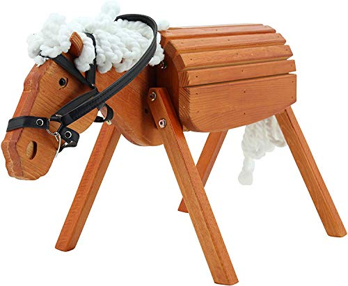 Sweety Toys 12916 Outdoor Gartenpferd Holzpferd EMMI Größe S 58 cm mit Zaumzeug