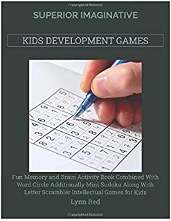 Superior Imaginative Kids Development Games: Fun Memory and Brain Activity Book Combined With Word Circle Additionally Min...