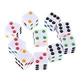 zrshygs 10 unids/set D6 Seis caras Spot dados cuadrados opacos juego de rol para el partido