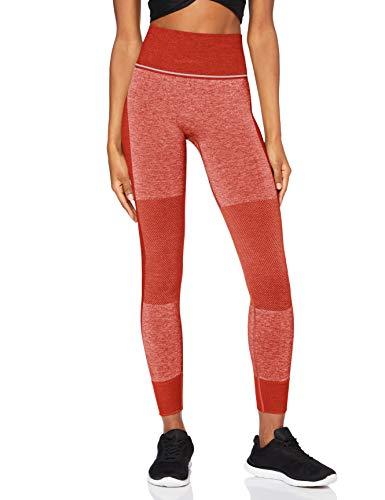 AURIQUE ST0092 Leggings de Deporte, Rojo, 38