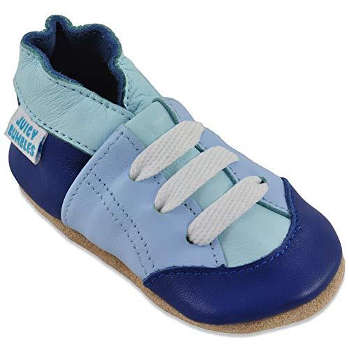 Juicy Bumbles Lauflernschuhe - Krabbelschuhe - Babyhausschuhe - Blaue Trainer 12-18 Monate (Größe 22/23)