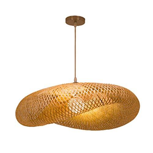 Suspension Rotan Bamboe Weven Vintage Kroonluchter Tassel Natuurlijke Rieten Aziatische Luminaire Zuidoost Rotan Hanglampen Zuidoost-Aziatische Tropische Enkele E27 Lamp Vertigo Lounge Room 50cm