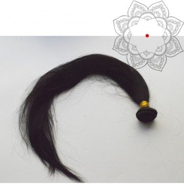 Tissage Indien Raide-Lisse 26 pouces - Cheveux humains 100% naturels - 1 paquet de 100g - Cheveux vierges indiens non traités 1B