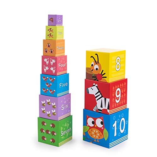 WFF Spielzeug Baby-und Kinderspielzeug Digital-Set Box Jenga Spielzeug 1 Satz 10- Paper Set Turm Baby Early Education Lernspielzeug (Color : 1set)