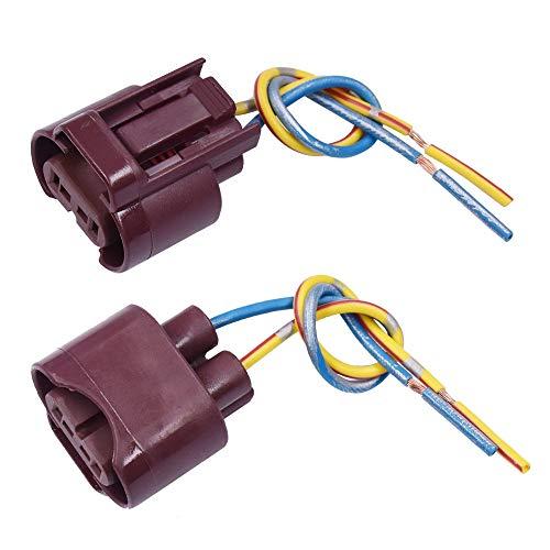 DFYYQ 9005 HB3 9145 H10 Hembra Adaptador del zócalo del Bulbo de extensión del Haz de Cables Conector for Faros antiniebla 2 Piezas de luz (Color : 9006)
