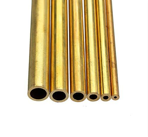 SUCAN 3 Stücke 2-6mm Außendurchmesser Durchmesser Massiv Hohl Messing Stange Rohr Metall Hohlrundrohr Stange Drehstange Lager Kit Sortiert Für DIY Handwerk Werkzeug Länge 100mm (2mm)