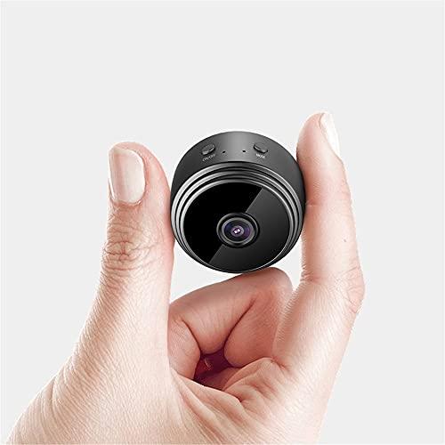 Mini cámara, pequeña cámara de vigilancia de HD 1080P, función de visión nocturna infrarroja, duración de la batería larga, cámara de videollamadas, adecuado para uso en interiores y exteriores