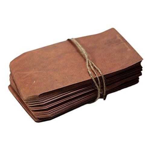 20x Milopon Umschläge Kraftpapier Umschlag Briefumschläge Vintage DIN C6 Kuvert passend für Karten nassklebende Kuverts für Einladungskarten, Grußkarten, Weihnachtskarten