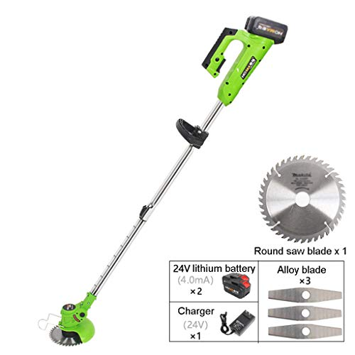 Review ELSP Grass Trimmer, Electric Garden Strimmer Cordless Rechargeable Handheld Telescopic Grass ...