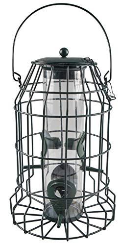 Windhager Protector Vogelfuttersilo mit Räuberschutz, Vogelhaus, Futterhaus, Vogelhäuschen, Vogelfutterstation zum Aufhängen, Vogel-Silo, 06514, anthrazit