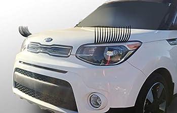 CarLashes for Kia Soul  2009-Present  - Car Headlight Eyelashes - Classic BLACK