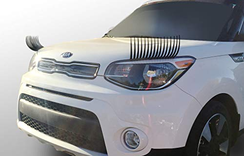 CarLashes for Kia Soul (2009-2019) - Car Headlight Eyelashes - Classic BLACK
