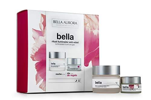 Bella Aurora - Pack Crema Bella Noche 50ml + Crema Bella Día 15ml | Caja de Regalo | Hidratante | Anti-edad | Anti-arrugas