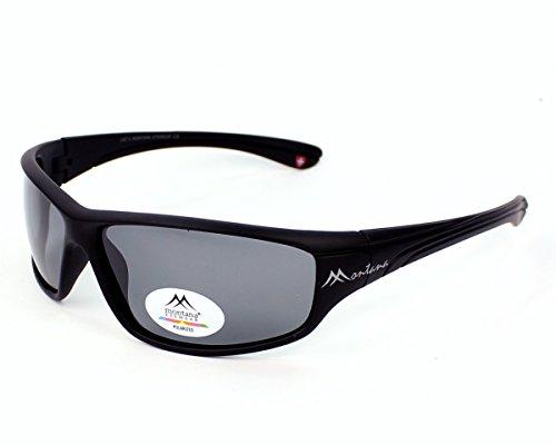 Montana Eyewear Sunoptic SP309 Sonnenbrille in schwarz, inklusive Softetui